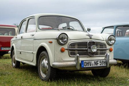 PAAREN IM GLIEN, GERMANY - JUNE 08, 2019: Compact car NSU-Fiat 1100/Neckar Europa, 1959. Die Oldtimer Show 2019.