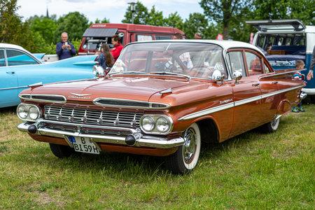 PAAREN IM GLIEN, GERMANY - JUNE 08, 2019: Full-size car  Chevrolet Bel Air (Fourth generation). Die Oldtimer Show 2019.