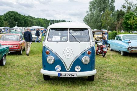 PAAREN IM GLIEN, GERMANY - JUNE 08, 2019: Minibus Volkswagen Type 2 (Samba Bus), first generation.  Die Oldtimer Show 2019. Editorial