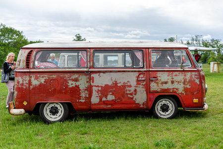 PAAREN IM GLIEN, GERMANY - JUNE 08, 2019: Minibus Volkswagen Type 2 (second generation). Die Oldtimer Show 2019. Editorial