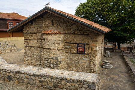 Church of the Holy Saviour or Sveti Spas. Nessebar. Bulgaria. 스톡 콘텐츠