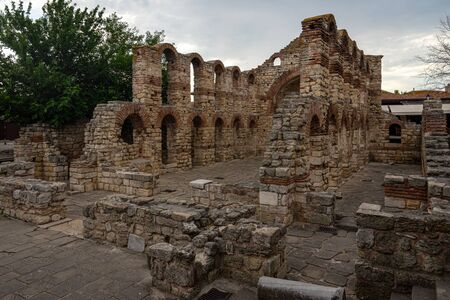 Ruins of the Church of Saint Sofia (built 5th-6th century). Ancient historical town of Nessebar. Bulgaria.