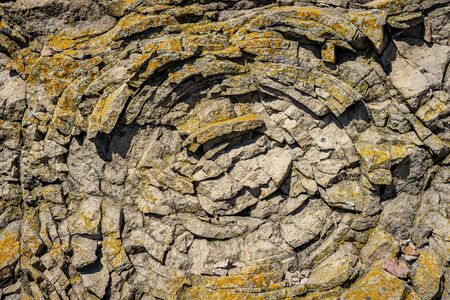 Sedimentary rock. Structure of natural stone. Background.