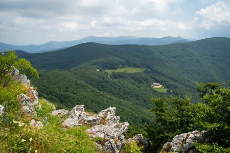 Shipka Pass - a scenic mountain pass through the Balkan Mountains in Bulgaria.