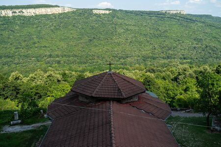Views of the valley and slopes of the Yantra River near the town of Veliko Tarnovo. Bulgaria.