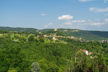 Views of the valley and slopes of the Yantra River and the surroundings of Veliko Tarnovo. Bulgaria.