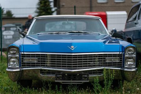 BERLIN - APRIL 27, 2019: Full-size luxury car Cadillac Coupe de Ville, 1968