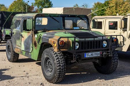 PAAREN IM GLIEN, GERMANY - OCTOBER 03, 2020: Light armored car AM General Humvee, 1987. Die Oldtimer Show 2020.