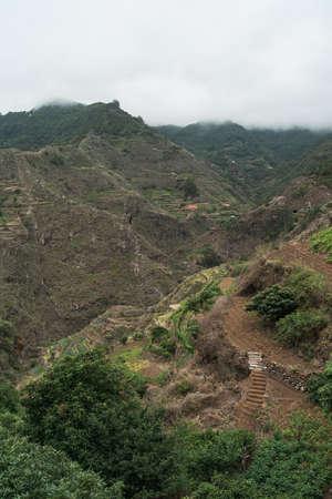 Mountain landscape. Area of Batan de Abajo. Tenerife. Canary Islands. Spain.