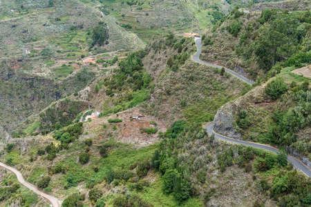 Mountain landscape. The located near village of Bejia. Tenerife. Canary Islands. Spain. Standard-Bild