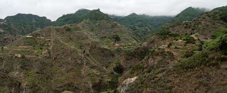 Mountain landscape. Panoramic view. Area of Batan de Abajo. Tenerife. Canary Islands. Spain.