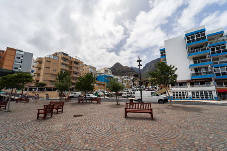 BAJAMAR, CANARY ISLANDS, TENERIFE - JULY 06, 2021: Small tourist town in the north of Tenerife on the Atlantic coast.