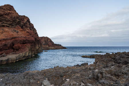 Rocky coast of the Atlantic Ocean at Cape Teno. Tenerife. Canary Islands. Spain. Standard-Bild