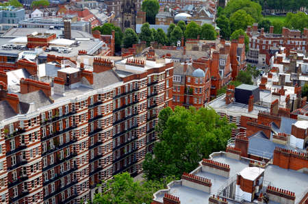 knightsbridge: View on traditional Victorian Buildings in London Stock Photo