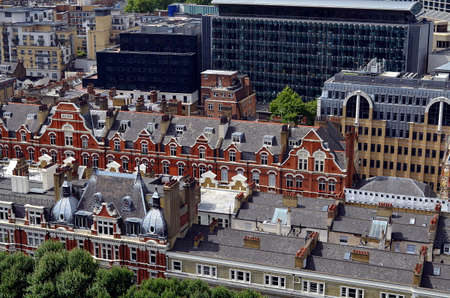 View on traditional Victorian Buildings in London Stockfoto