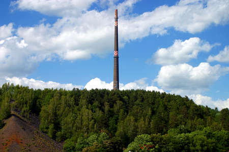 industrially: traditional industrial mining landscape in central germany