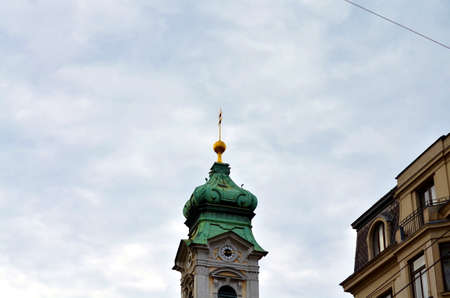 church tower of an old building in vienna, austria
