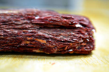 glimmer: closeup of rare rubin red glimmer mineral