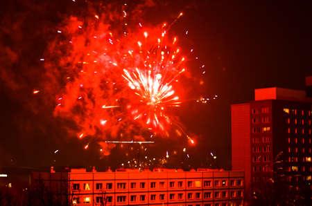 neue Jahr Feuerwerk in Berlin