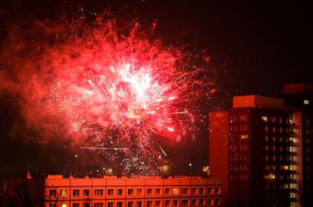 jahreswechsel: new year fireworks in berlin