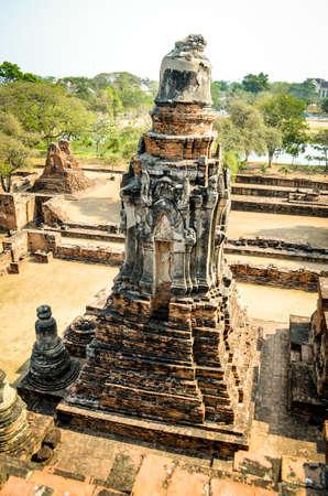 Chaiwatthanaram temple in ancient capital city, Ayutthaya ,Thailand