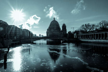 berlin cathedral at cold winter day