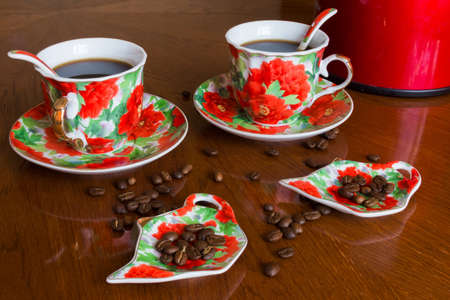 invigorating: The picture shows an invigorating morning coffee