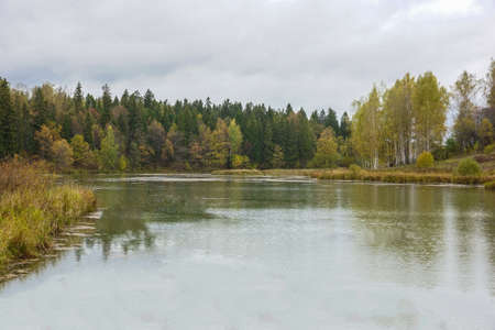 pictured: Pictured Reserve Abramtsevo, the bridge is in the reserve.