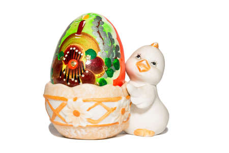 exempt: The photograph shows a easter egg on white background Stock Photo