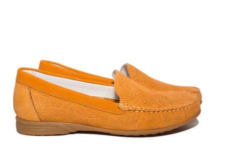 moccasins: The photo shows the moccasins on a white background