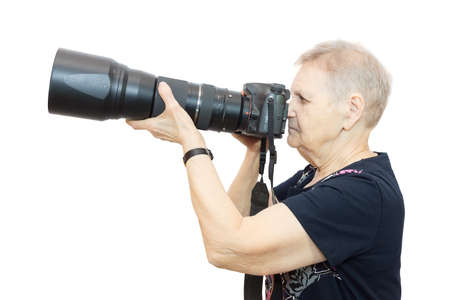 pensioner: The photo shows a pensioner with a camera