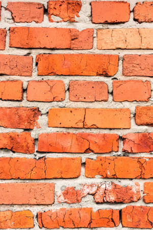 Brick wall, texture, background, summer, village, red brick