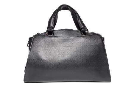 womens leather handbag in black, Studio, still life photography