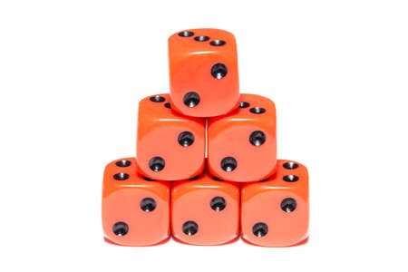 cubes for Board games on white background, dice Stock Photo