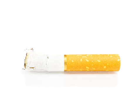 cigarette butt. single. isolated on white background