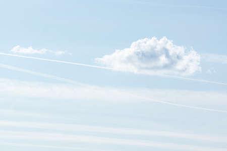 blue sky background with tiny clouds, cloud on blue sky Фото со стока