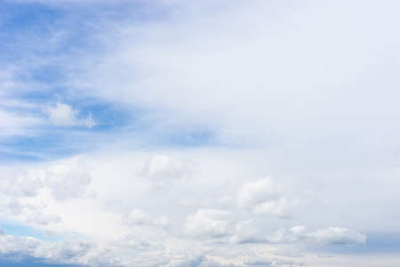 blue sky background with tiny clouds, cloud on blue sky 写真素材