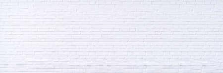 Texture background concept: white brick wall background in rural room Standard-Bild