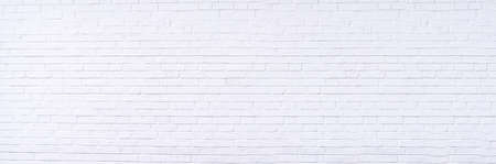 Texture background concept: white brick wall background in rural room Foto de archivo