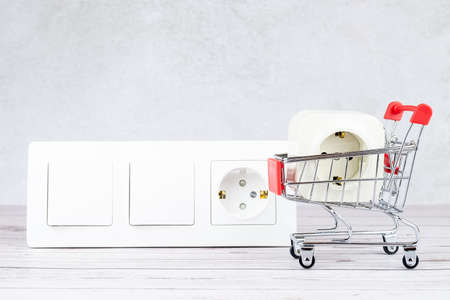 Plug Into Electricity Socket the power outlets on the wooden wall