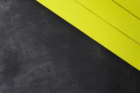 New wooden background and yellow texture