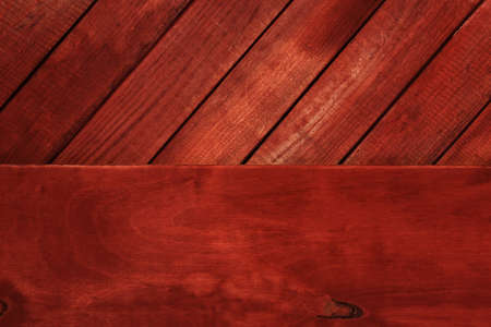 New wooden background and red texture