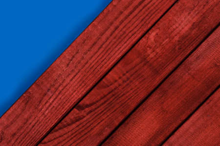 New wooden background and blue texture