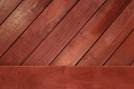 New wooden background and Beautiful clean red texture table