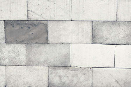 grey stone brick wall texture and pattern suitable for background and wallpaper Stock Photo