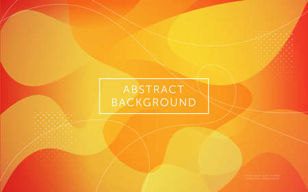 trendy and dynamic textured background design in 3D style with orange color. Fluid  liquid gradient vector background.