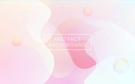 pink and white abstract background with dinamic fluid shape  liquid shape 3d wallpaper  banner  web design  layout.