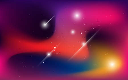 abstract space background, with shining stars  and stardust, liquid style background. 3d vector wallpaper, website design, banner, and landing page design. Illustration