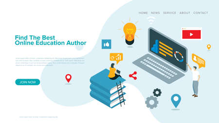 modern vector illustration for e-learning  and online education   landing page and web page design.
