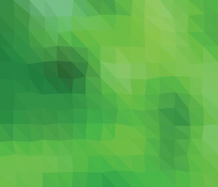 consist: Colored polygonal illustration consist of triangles. Triangular design. Green colors. Green triangles. Illustration